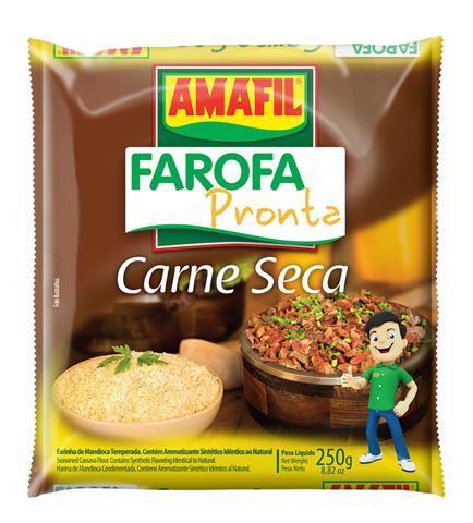 Farofa pronta carne seca Amafil 250g