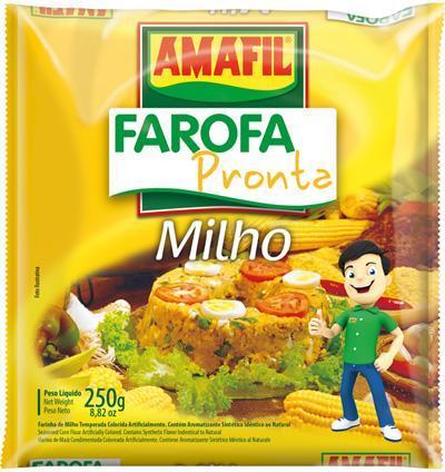 Farofa pronta de milho Amafil 250g