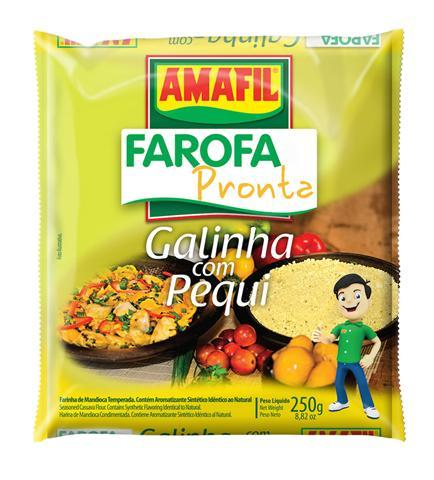 Farofa pronta  galinha com pequi Amafil 250g
