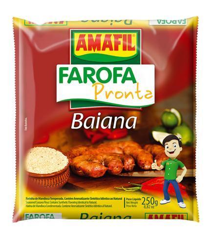 Farofa pronta mandioca baiana Amafil 250g
