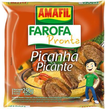 Farofa pronta picanha picante Amafil 250g