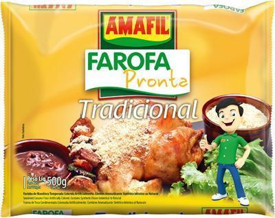 Farofa pronta tradicional Amafil 500g