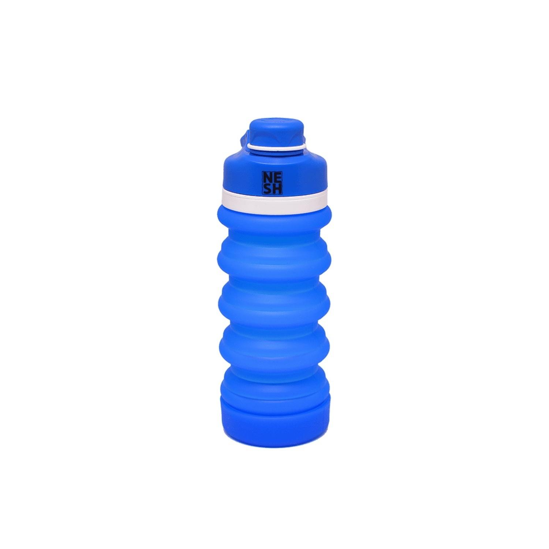 Garrafa Retrátil de Silicone Azul - Nesh Cosméticos