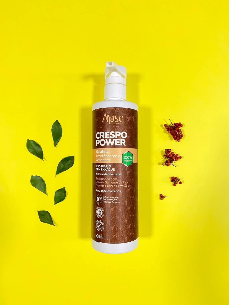 Gelatina Ativadora Umidificadora Crespo Power - Apse Cosmetics 500ml