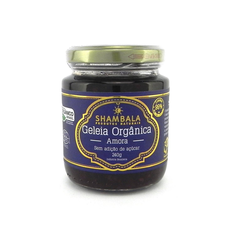 Geleia de Amora Orgânica Sem Açúcar Shambala 240g