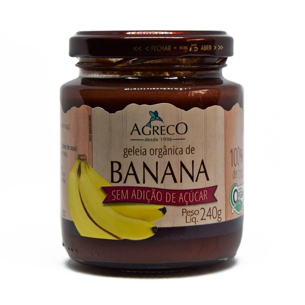 Geleia de Banana Orgânica Sem Adição De Açúcar Agreco 240g