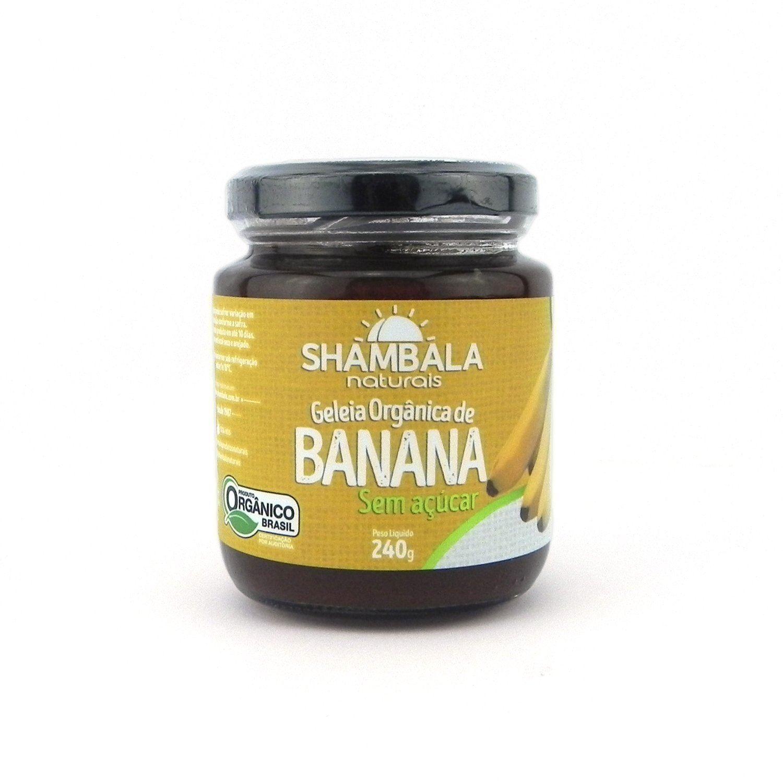 Geleia de Banana Orgânica Sem Açúcar Shambala - 240g