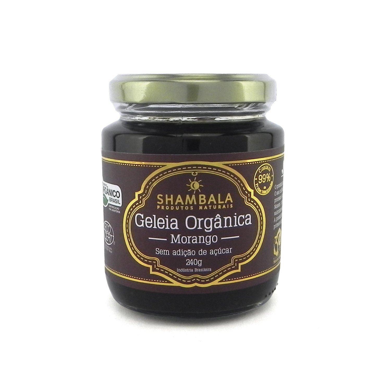 Geleia de Morango Orgânica Sem Açúcar Shambala 240g
