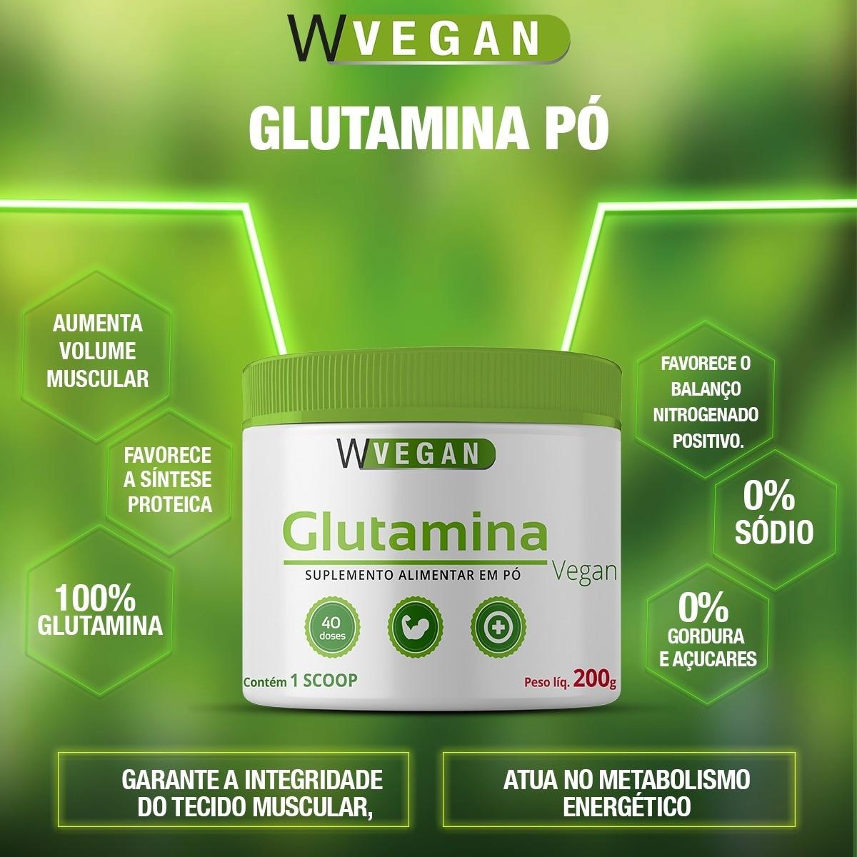 Glutamina 200g Sem sabor WVegan