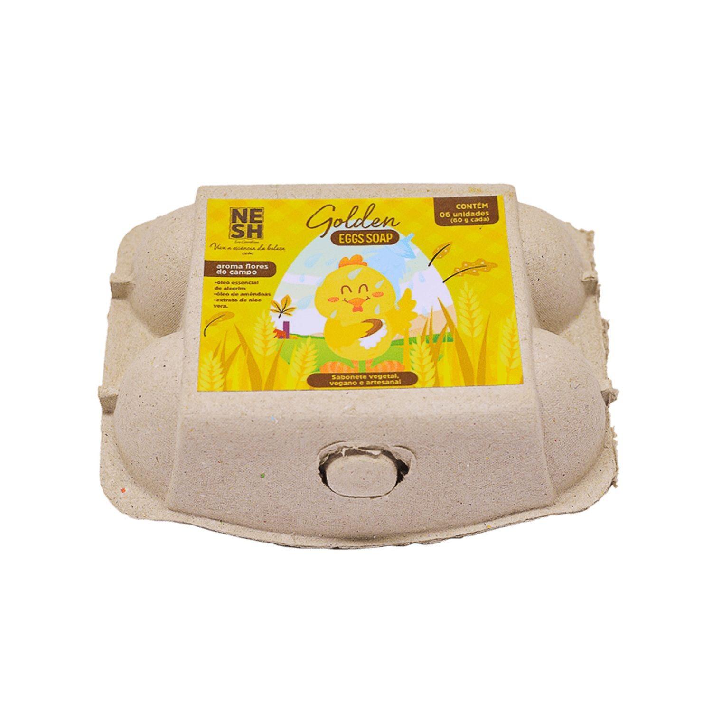 Golden Eggs Soap - Caixa com 06 unid. (60 g cada) - Nesh Cosméticos