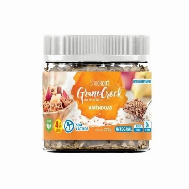 GranoCrock Snackout Amêndoas - 220g