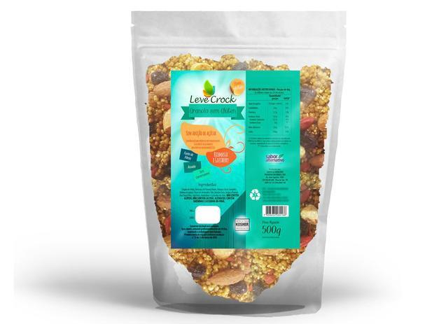 Granola biomassa e goji berry Leve Crock 500g