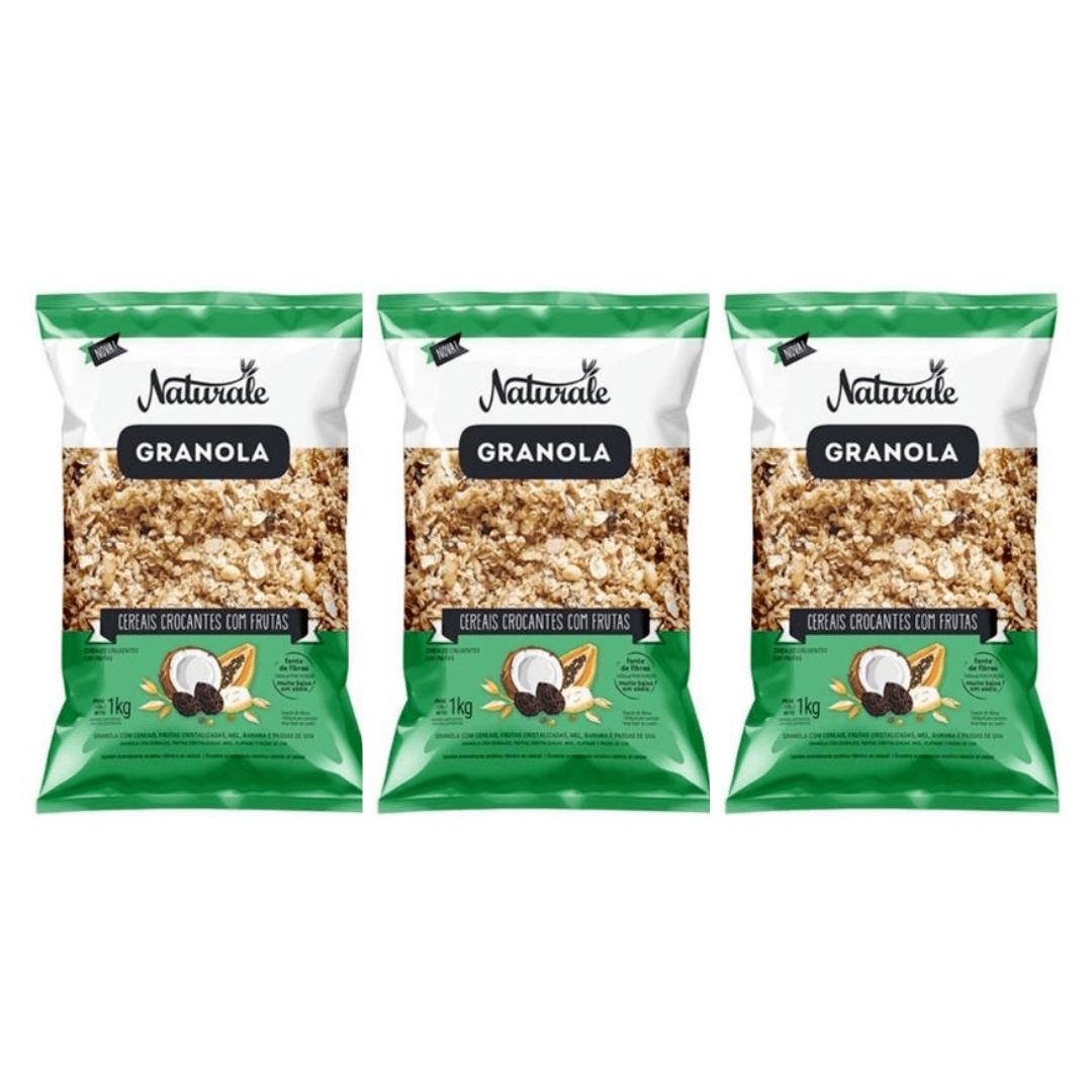 Granola Cereais e Frutas 1kg Naturale Kit com 3