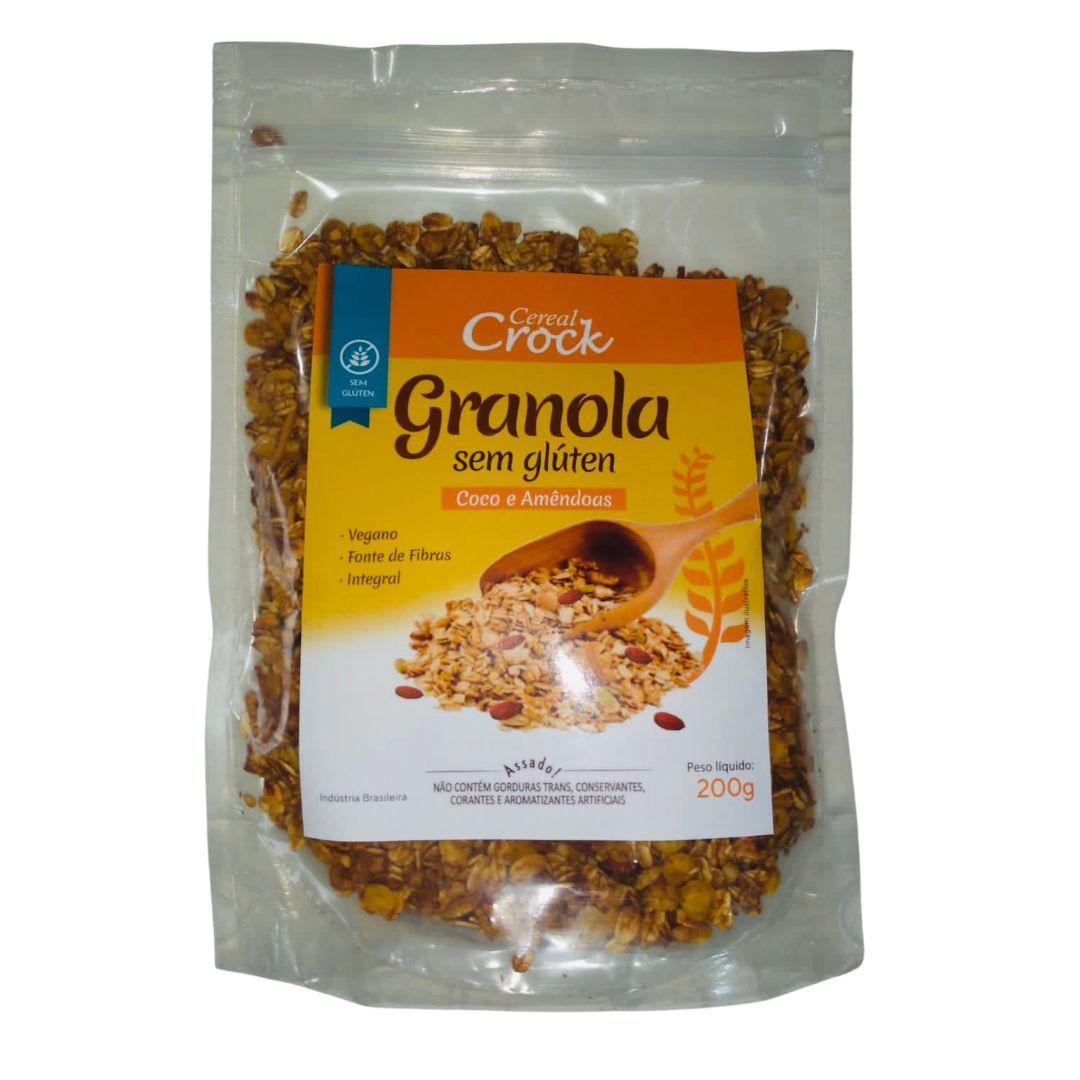 Granola coco e amêndoas Leve Crock 200g