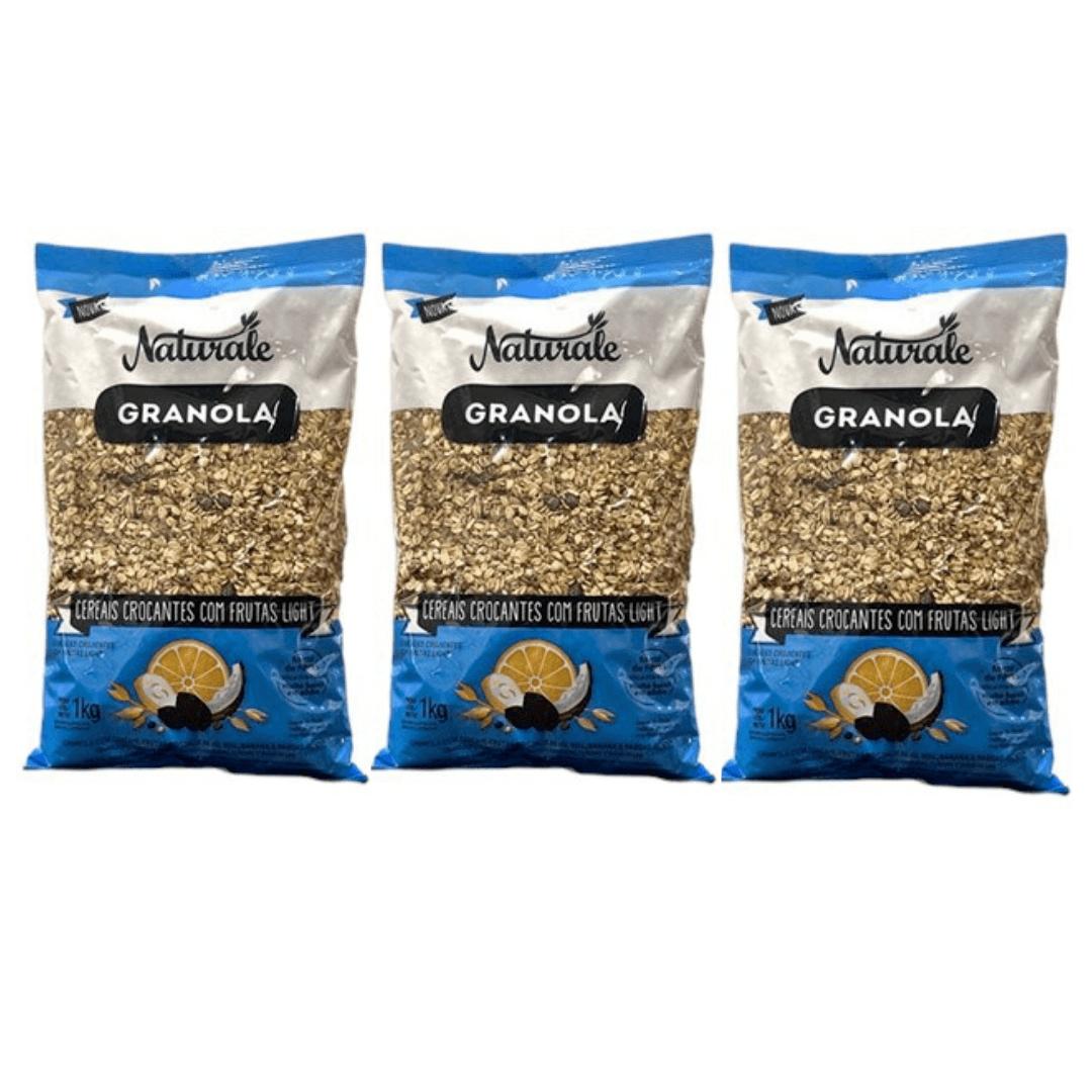Granola de Frutas Light Naturale 1kg Kit com 3