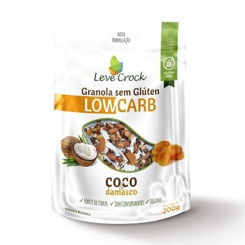 Granola lowcarb coco e damasco Leve Crock 200g