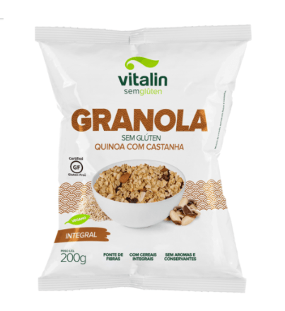Granola quinoa com castanha integral Vitalin 200g
