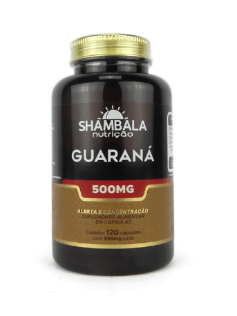 Guaraná 500mg Shambala - 120 cápsulas