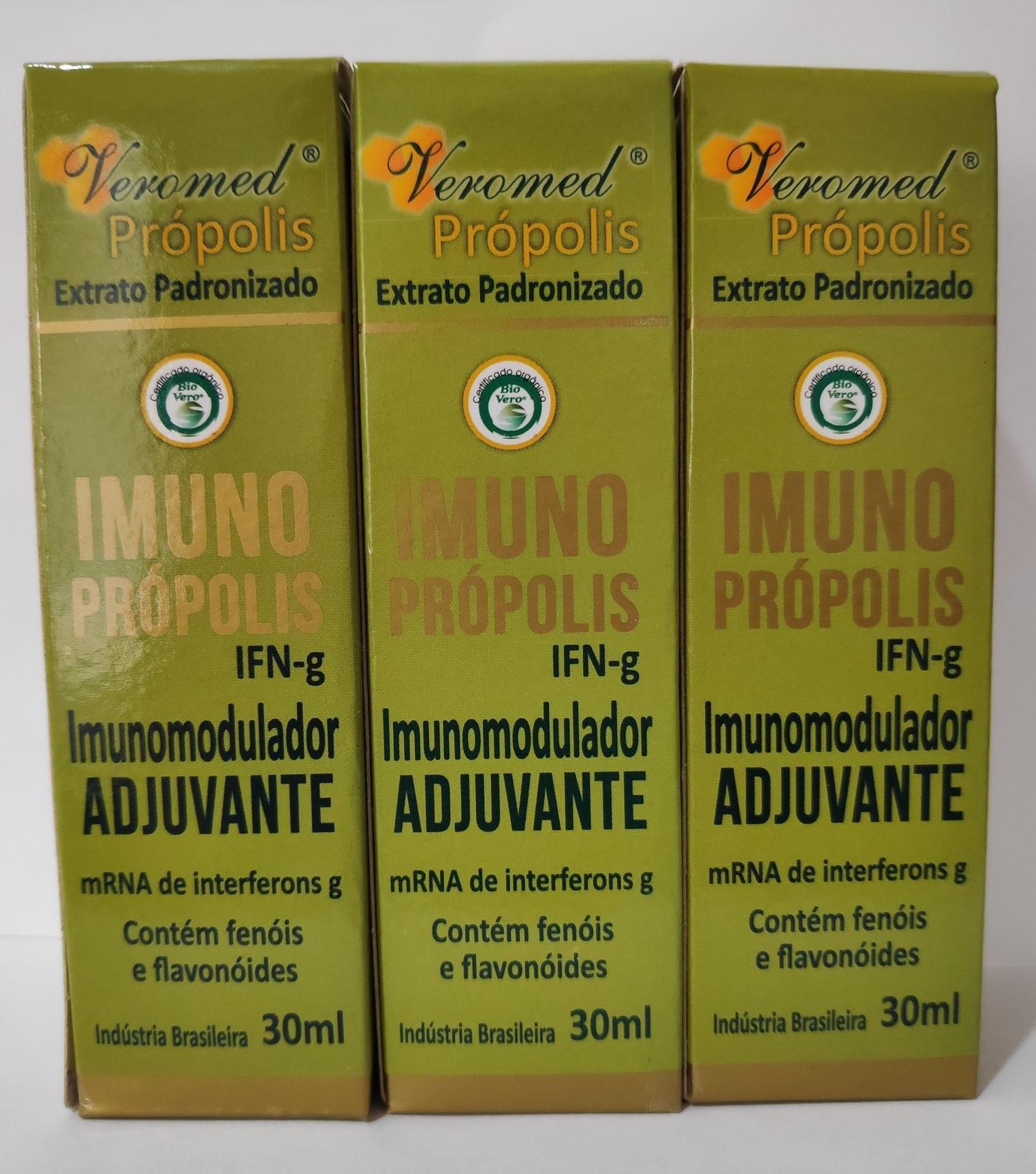 Imuno Própolis Verde Imunomodulador - Veromed 30ml (3 Unidades)