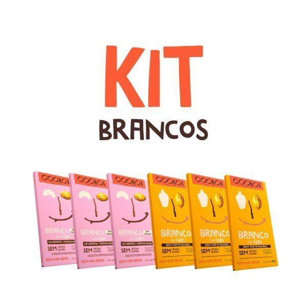 Kit Chocolates Brancos 80g (6 unidades) - Cookoa