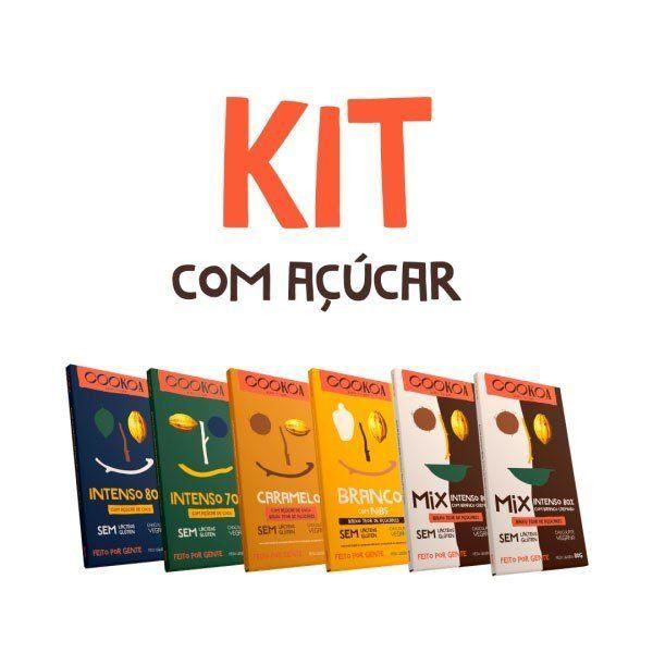 Kit Chocolates com Açúcar 80g (6 unidades) - Cookoa
