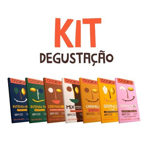 Kit Chocolates Degustação 80g (7 unidades) - Cookoa