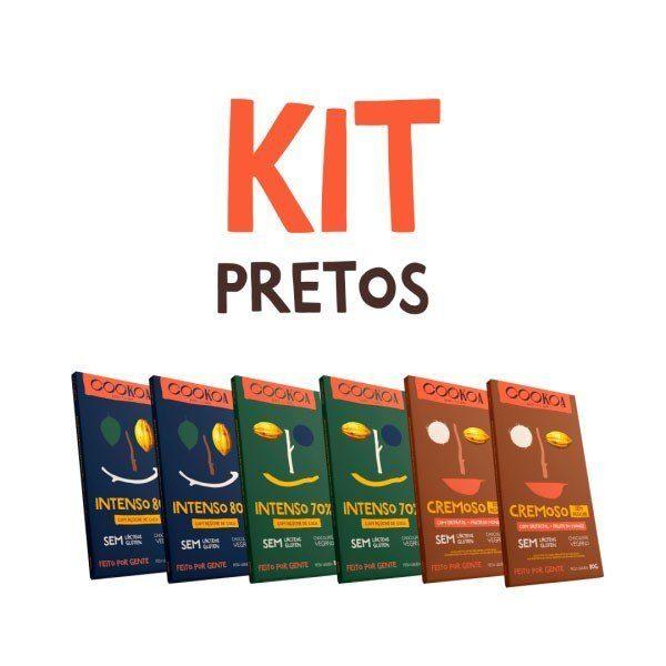 Kit Chocolates Pretos 80g (6 unidades) - Cookoa