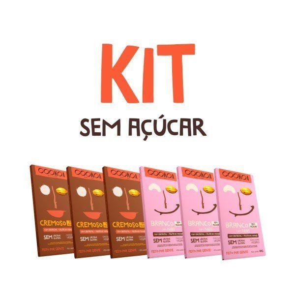 Kit Chocolates sem Açúcar 80g (6 unidades) - Cookoa