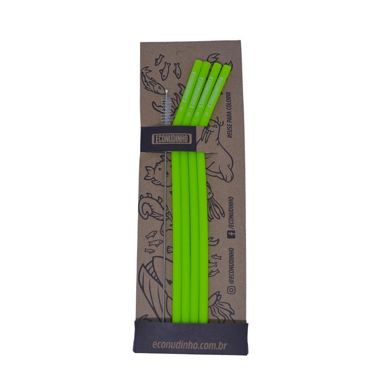 Kit E-Conudinho de Silicone Verde com 04 Unidades + Escovinha - Econudinho
