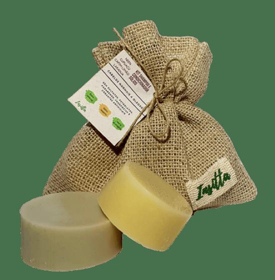 Kit Shampoo Sólido de Neen, Cupuaçú e capim Limão + Condicionador Sólido de Cupuaçu, Pracaxi e Laranja Doce INSITTA