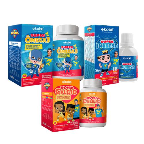 Kit Super ImuneSe + Super Ômega 3 + Ultra Cálcio - Ekobé