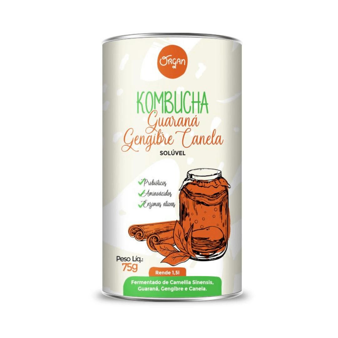Kombucha em Pó sabor Guaraná, Gengibre e Canela Organ 75g