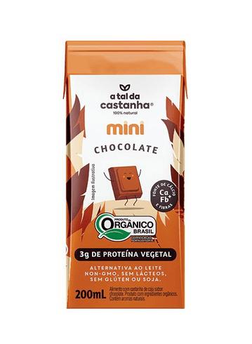 Leite de castanha e chocolate mini A Tal da Castanha 200ml