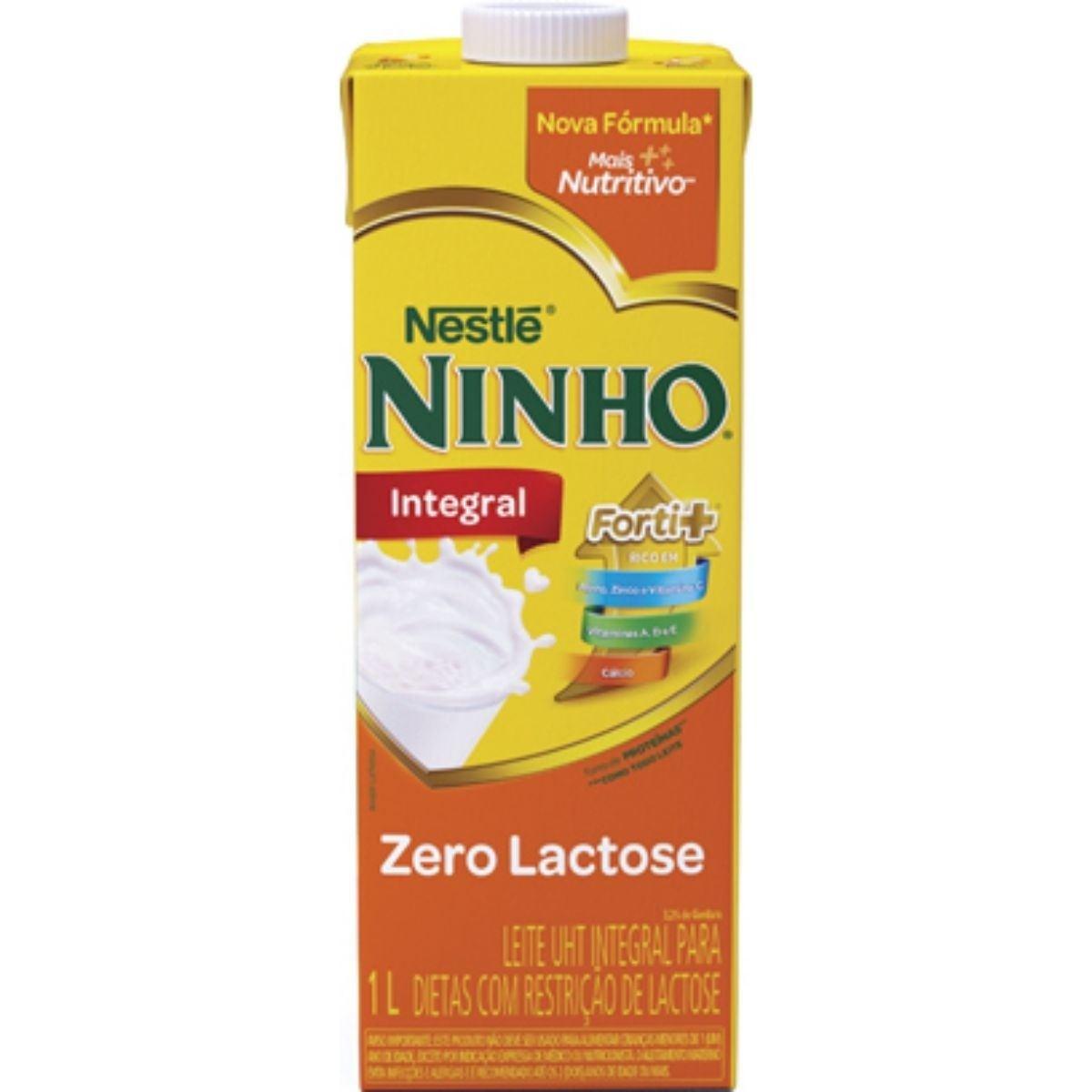 Leite Integral Zero Lactose Ninho Nestlé 1L