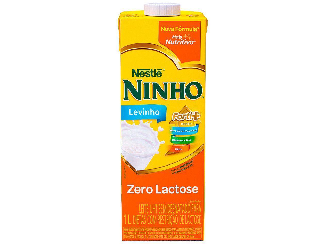 Leite Semidesnatado Levinho Zero Lactose Ninho Nestlé 1L
