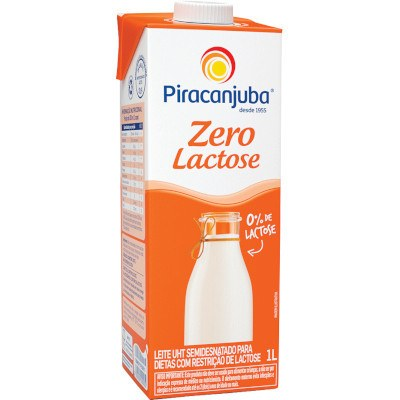 Leite Semidesnatado Zero Lactose Piracanjuba 1L