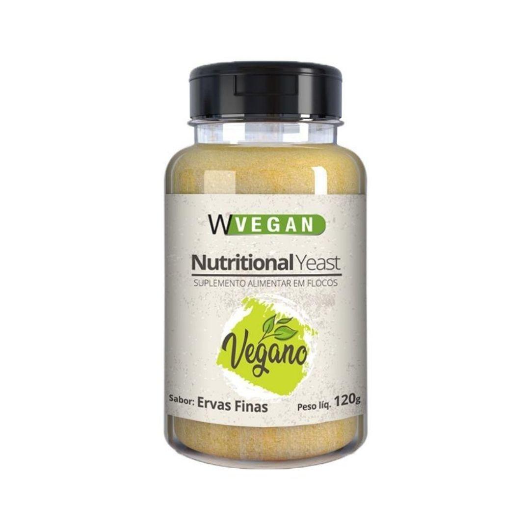 Levedura Nutricional Vegana em Flocos Sabor Ervas Finas - WVegan 120g