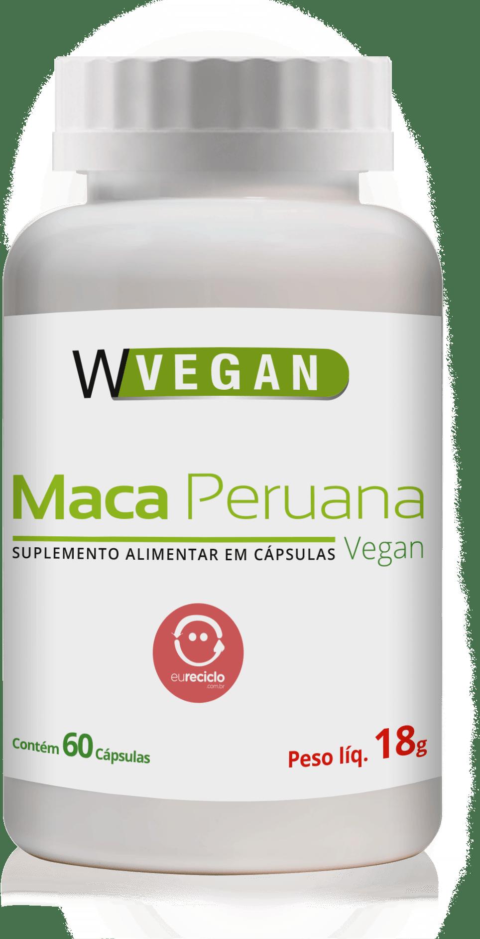 Maca Peruana 500mg 60 capsulas WVegan