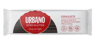 Macarrão de arroz e feijão preto espaguete Urbano 500g