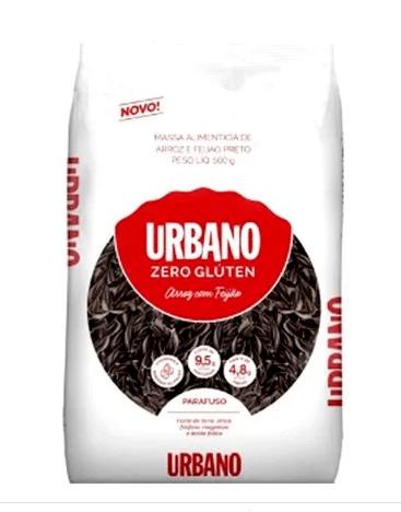 Macarrão de arroz e feijão preto parafuso Urbano 500g