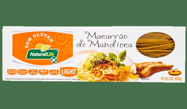 Macarrão de mandioca  espaguete Natural Life 400g