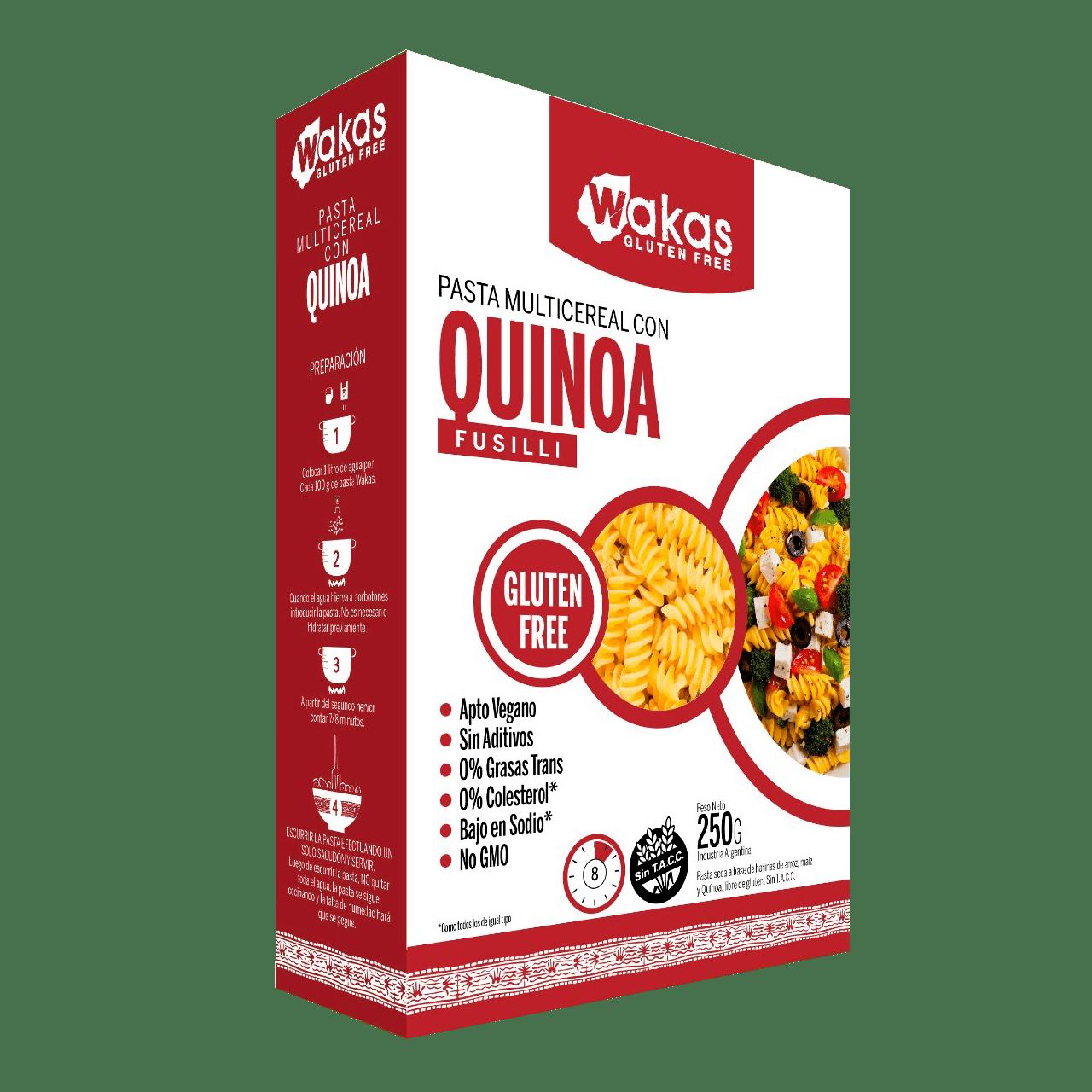 Macarrão multicereais quinoa Wakas 250g