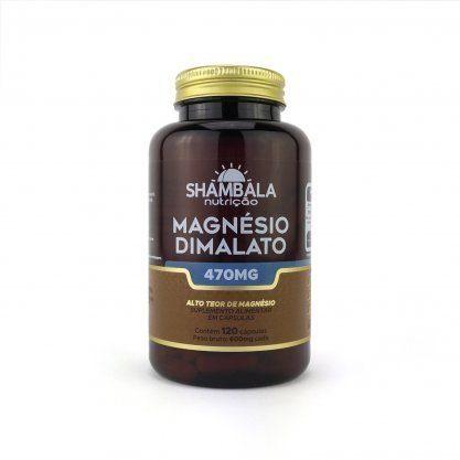 Magnésio Dimalato Shambala 120 Caps 470mg