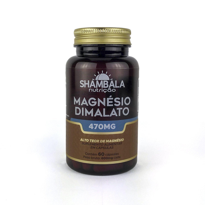 Magnésio Dimalato Shambala 60 Caps 470mg