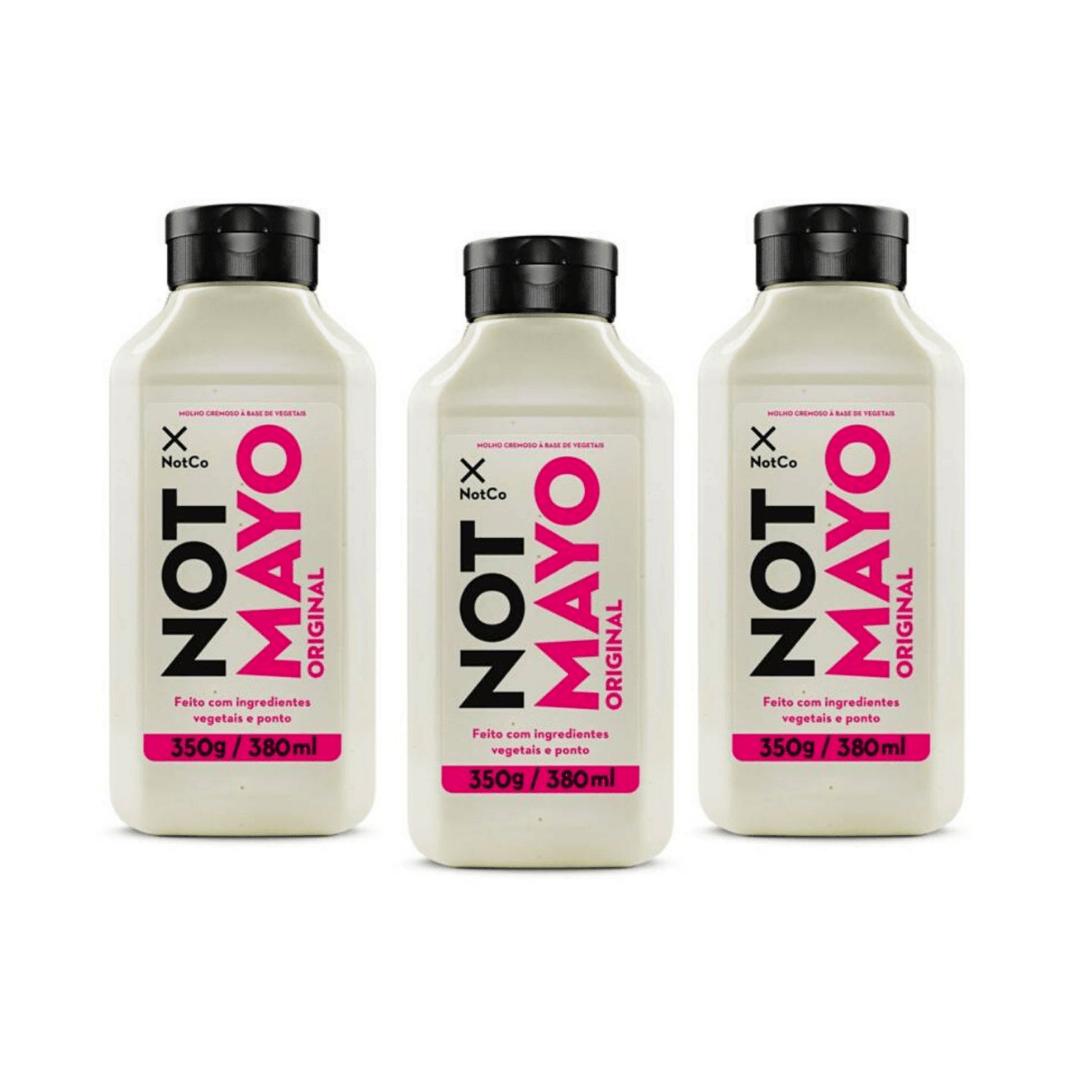 Maionese Vegana Not Mayo Original 350g - NotCo Kit com 3