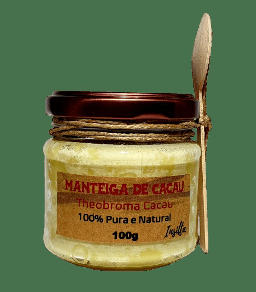 Manteiga de Cacau da Amazônia Prensada a Frio 100% Pura e Vegana 100g Insitta