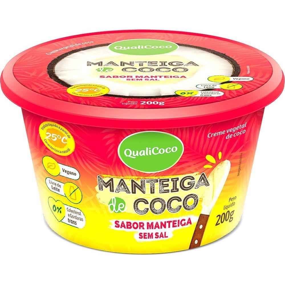 Manteiga de Coco sabor Manteiga s/ Sal 200g QualiCoco