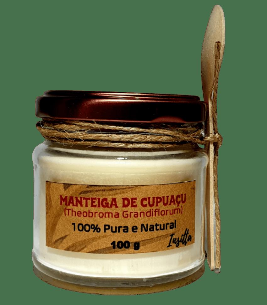 Manteiga de Cupuaçu da Amazônia Prensada a Frio 100% Pura e Vegana 100g Insitta