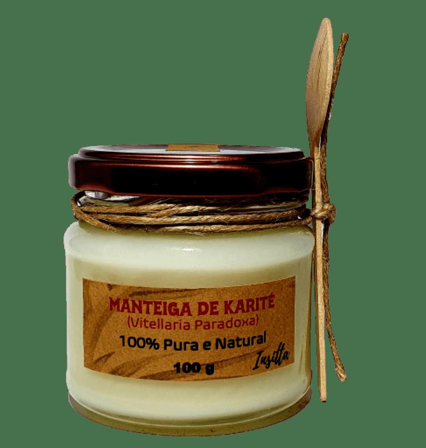 Manteiga de Karité Africana Prensada a Frio 100% Pura 100g Insitta