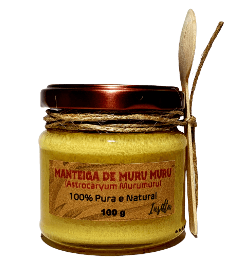 Manteiga de Muru Muru da Amazônia  Prensada a Frio 100% Pura e Vegana 100g Insitta